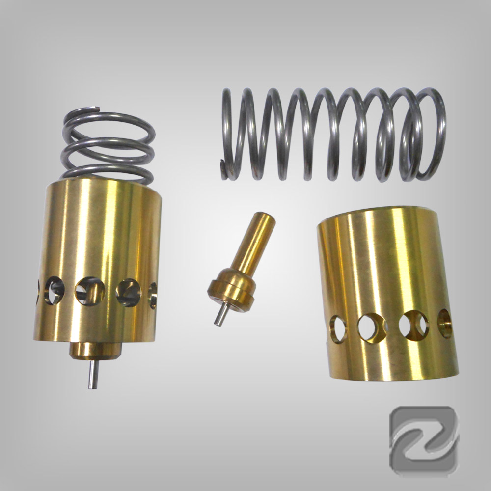 工作原理 :温控阀基于石蜡/黄铜混合物的热胀冷缩原理,通过对温度图片
